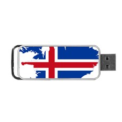 Iceland Flag Map Portable USB Flash (Two Sides) by abbeyz71
