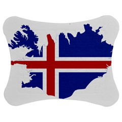 Iceland Flag Map Jigsaw Puzzle Photo Stand (Bow) by abbeyz71
