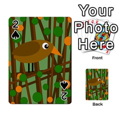 Brown Bird Playing Cards 54 Designs  by Valentinaart