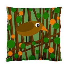 Brown bird Standard Cushion Case (Two Sides)