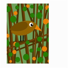 Brown bird Large Garden Flag (Two Sides) by Valentinaart