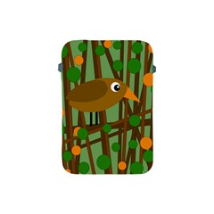 Brown Bird Apple Ipad Mini Protective Soft Cases by Valentinaart