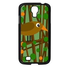 Brown Bird Samsung Galaxy S4 I9500/ I9505 Case (black) by Valentinaart
