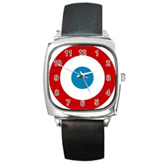 Roundel Of The French Air Force  Square Metal Watch by abbeyz71