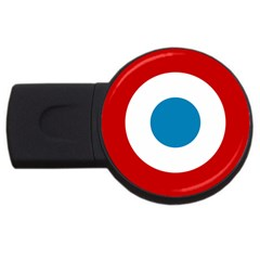 Roundel Of The French Air Force  Usb Flash Drive Round (4 Gb)  by abbeyz71
