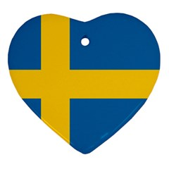 Flag Of Sweden Ornament (heart)  by abbeyz71