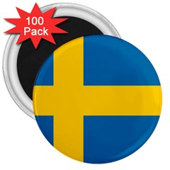 Flag of Sweden 3  Magnets (100 pack) by abbeyz71