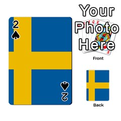 Flag Of Sweden Playing Cards 54 Designs