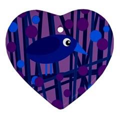 Purple Bird Ornament (heart)  by Valentinaart