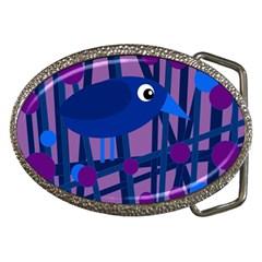 Purple bird Belt Buckles by Valentinaart