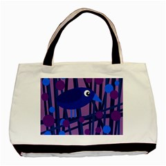 Purple bird Basic Tote Bag (Two Sides)