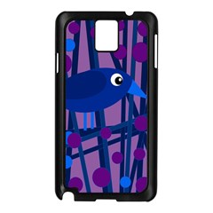 Purple Bird Samsung Galaxy Note 3 N9005 Case (black) by Valentinaart