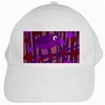 Sweet purple bird White Cap Front