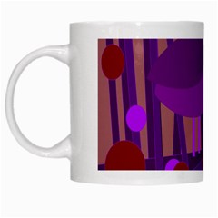 Sweet Purple Bird White Mugs by Valentinaart