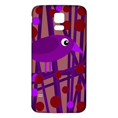 Sweet Purple Bird Samsung Galaxy S5 Back Case (white) by Valentinaart