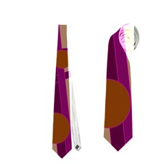 Cute Magenta Bird Neckties (one Side)  by Valentinaart