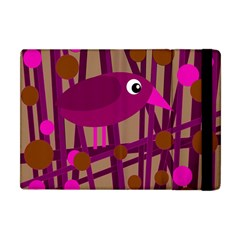 Cute Magenta Bird Apple Ipad Mini Flip Case by Valentinaart