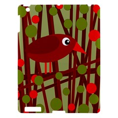 Red Cute Bird Apple Ipad 3/4 Hardshell Case by Valentinaart