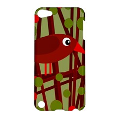 Red Cute Bird Apple Ipod Touch 5 Hardshell Case by Valentinaart
