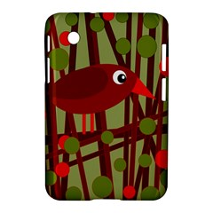 Red Cute Bird Samsung Galaxy Tab 2 (7 ) P3100 Hardshell Case  by Valentinaart