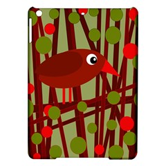 Red Cute Bird Ipad Air Hardshell Cases by Valentinaart