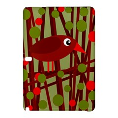 Red Cute Bird Samsung Galaxy Tab Pro 12 2 Hardshell Case by Valentinaart