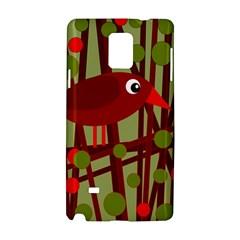 Red Cute Bird Samsung Galaxy Note 4 Hardshell Case by Valentinaart