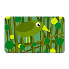Cute Green Bird Magnet (rectangular) by Valentinaart