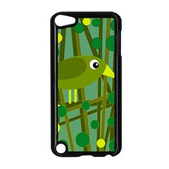 Cute Green Bird Apple Ipod Touch 5 Case (black) by Valentinaart