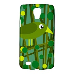 Cute Green Bird Galaxy S4 Active by Valentinaart