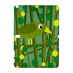 Cute Green Bird Samsung Galaxy Note 10 1 (p600) Hardshell Case by Valentinaart