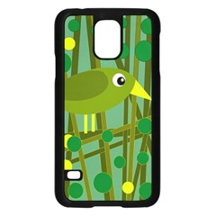 Cute Green Bird Samsung Galaxy S5 Case (black) by Valentinaart