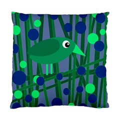 Green And Blue Bird Standard Cushion Case (one Side) by Valentinaart