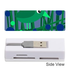 Green And Blue Bird Memory Card Reader (stick)  by Valentinaart