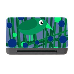 Green And Blue Bird Memory Card Reader With Cf by Valentinaart