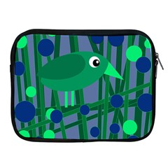 Green And Blue Bird Apple Ipad 2/3/4 Zipper Cases by Valentinaart