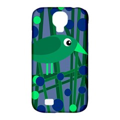 Green And Blue Bird Samsung Galaxy S4 Classic Hardshell Case (pc+silicone) by Valentinaart