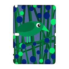 Green And Blue Bird Samsung Galaxy Note 10 1 (p600) Hardshell Case by Valentinaart
