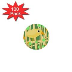 Yellow Little Bird 1  Mini Buttons (100 Pack)  by Valentinaart