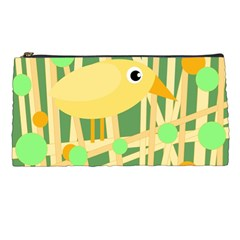 Yellow Little Bird Pencil Cases by Valentinaart