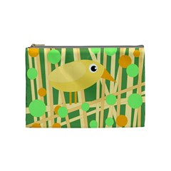 Yellow little bird Cosmetic Bag (Medium)