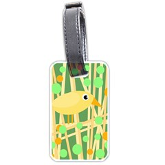 Yellow Little Bird Luggage Tags (two Sides) by Valentinaart
