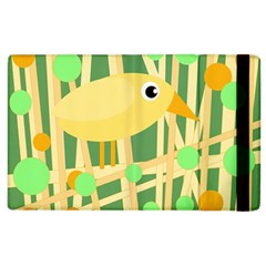 Yellow Little Bird Apple Ipad 2 Flip Case by Valentinaart