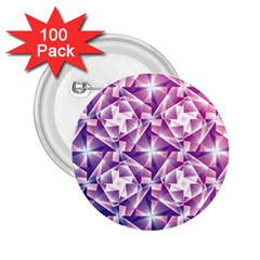 Purple Shatter Geometric Pattern 2 25  Buttons (100 Pack)  by TanyaDraws