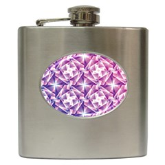 Purple Shatter Geometric Pattern Hip Flask (6 Oz) by TanyaDraws