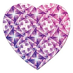 Purple Shatter Geometric Pattern Jigsaw Puzzle (heart) by TanyaDraws