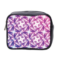 Purple Shatter Geometric Pattern Mini Toiletries Bag 2 Side by TanyaDraws