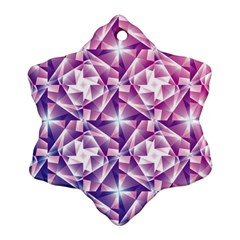 Purple Shatter Geometric Pattern Ornament (snowflake)  by TanyaDraws