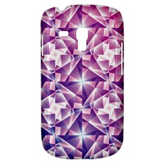 Purple Shatter Geometric Pattern Samsung Galaxy S3 Mini I8190 Hardshell Case by TanyaDraws