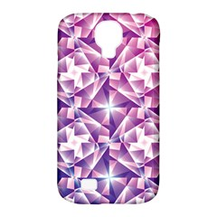 Purple Shatter Geometric Pattern Samsung Galaxy S4 Classic Hardshell Case (pc+silicone) by TanyaDraws